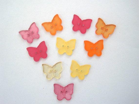 Busy Butterflies Craft Novelty Sewing Embellishment Buttons