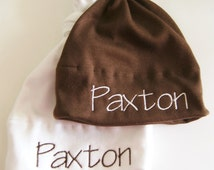 Set of Two Personalized baby hats