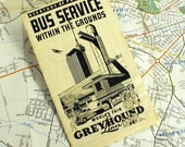 1933 Chicago Worlds Fair Greyhound Bus Map