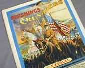 WW1 Military March Sheet Music Pershings Crusaders 1918