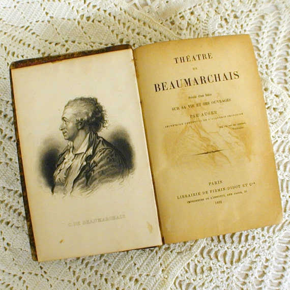 1892 French Book of Plays Theatre de Beaumarchais