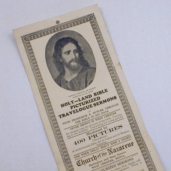 Holy Land Bible Travelogue Sermon Advertisement