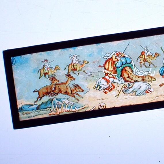 Antique Magic Lantern Slide Arabian Sand Storm