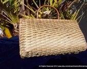 Vintage Basket Woven Purse 1950s or 1960s