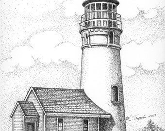Cape Blanco Lighthouse - 11 x14 Matted Print