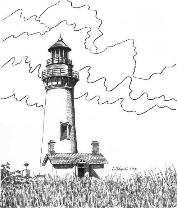 Yaquina Head Lighthouse - 11 x14 Matted Print
