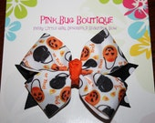 Boutique Halloween Trick-or-Treat Hair Bow