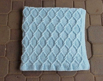 Diamond Cable Travel Blanket Pattern