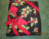 Red, Green & Black Christmas Holiday Fleece Blanket 60x72 1/2