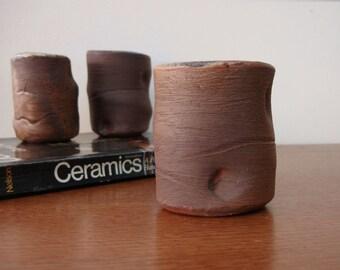 Studio Pottery Mug Hobbit Style 60s Organic Shape Mug Signed Hudson Numbered 1960s
