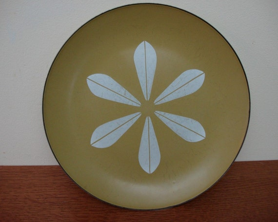 Cathrineholm Vintage Plate Mid Century Olive 1960s 60s 1950s
