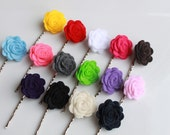 Felt Flower Bobby Pins - You Pick Any 4 Colors-  by Adorabella's