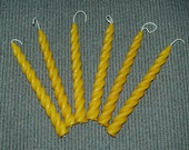 Beeswax Spiral Taper Candle Set of 6 - Pure Beeswax Candles