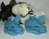 Turtle Dragon Beeswax Candles - Set of 2 in Blue