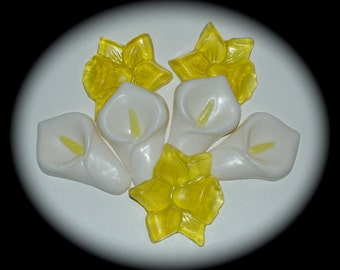 Daffodil and Calla Lily Soap Set - Perfect for Your Springtime Decor