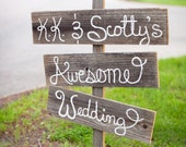 Rustic Wedding Signs For the Perfect Country Wedding.  Reception Signs.  Hand Painted Wooden Signs Eco Friendly Wedding Decorations