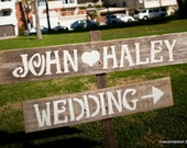 Personal Wedding Signs LARGE FONT Wood Wedding Sign. Reception Decorations. Outdoor Wedding Decorations Entrance Sign