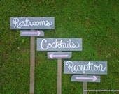 Wedding Signs Reception Sign Cocktail Sign. Parking Sign. Direction Signs Outdoor Wedding Decorations Rustic Wedding Sign Restroom Sign