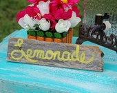 Lemonade Sign Photo Prop Wedding Signs Table Sign Wood Wedding Signs Handpainted Signs Table Decorations Reception Table Signs