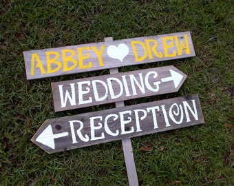 Reception Wedding Signs, Wood Wedding Signs, Hand Painted Signs, Wedding Signage, Beach Signs, Directional Wedding Signs, Rustic Wood Signs
