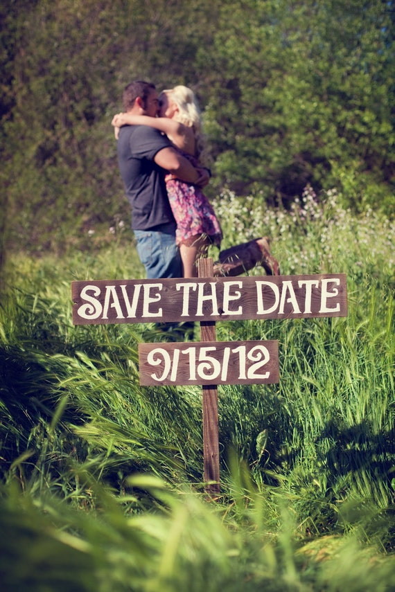 Save The Date Sign LARGE FONT Hand painted Wedding Signs. Wedding Send Outs Wedding Photo Props