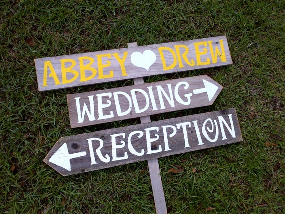 Reception Wedding Signs Wood Wedding Signs By WeddingSignsWithLove
