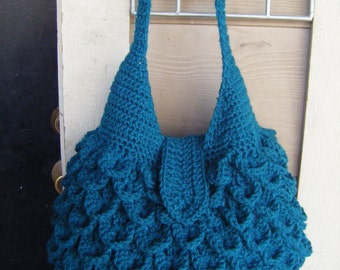INSTANT DOWNLOAD Crochet Crocodile Bag - Pattern