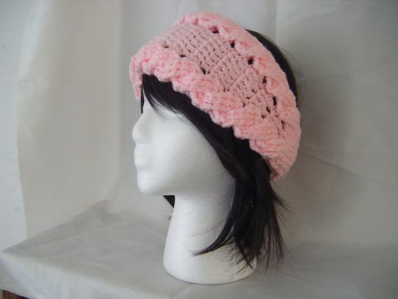 Crochet Headband Pattern Cable : Crochet Cables Pink Headband Ear warmer Pattern PERMISSION