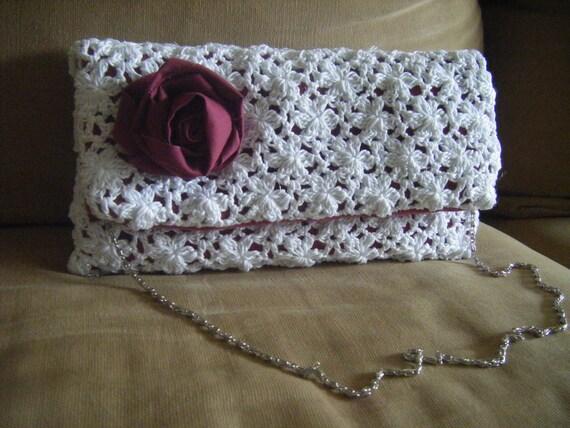 Clutch Lace Envelope Oversize Purse Crochet Pattern