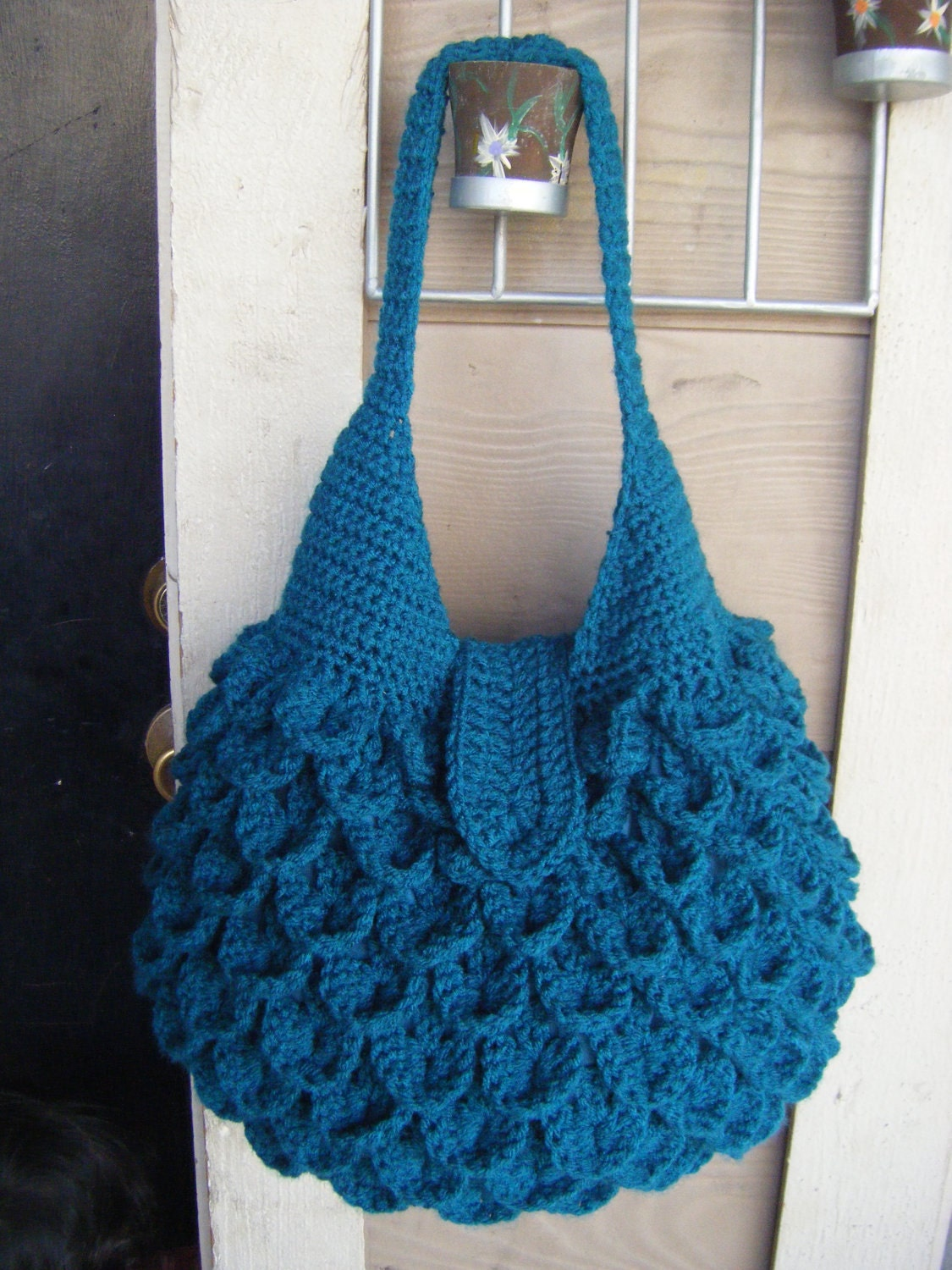 Crochet Hobo Bag Pattern : Crochet Crocodile Bag Pattern PERMISSION SELL by NatalieSpot