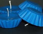 Set of 6 Blue Large Soy Floating Candles