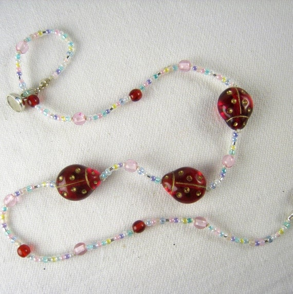 Items similar to Little Girls Jewelry, Sweet Ladybugs ...