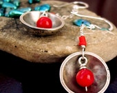 Sterling and Coral Earrings