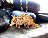 Brass Armadillo Necklace