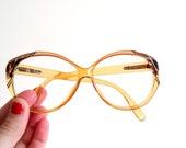 Saphira Hipster Honey glasses - made in Germany - 1970's eye wear - frames only