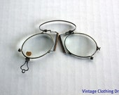 RESERVED until 12/10-Edwardian Pince-Nez Eyeglasses or Glasses 1880's-Steel Spring Bridge - New and Unused NOS w Reverse Heart Shaped Loop