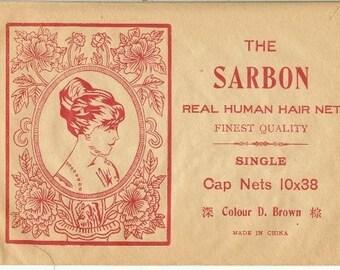 Vintage Hair Net Victorian Human Hair Nets in original paper package NOS Swing Dancing Victorian Dancing Pinup Bombshell 5-29