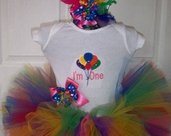 Bday Balloon Bash Set includes Tutu and Hairpiece