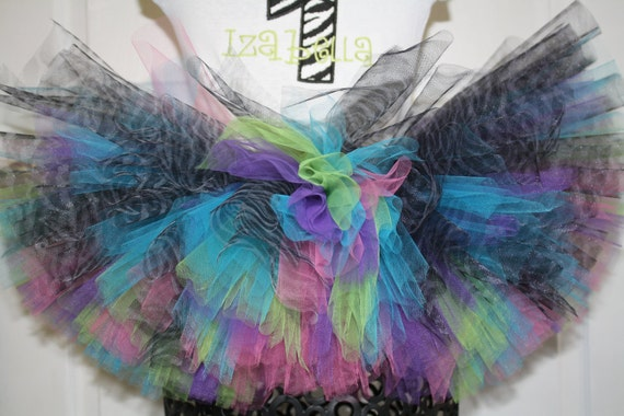 Zebra Girls Tutu  Great for Birthdays, Photography Prop, and Dance