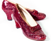 Ruby Slippers from The Wizard of Oz Fine Art Photograph 8 x 10 Red Film Prop Vintage Shoe