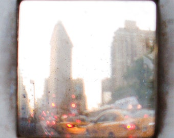 New York City Taxi Cab Flatiron  Fine Art Photograph Photo 8 x 8