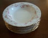 Eight Vintage Pope Gosser China Fruit/Dessert (Sauce) Bowls in Florence Pattern