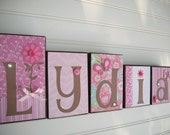 Name Blocks Personalized Boutique Custom Boys/Girls Baby