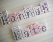 Baby Name Blocks . Nursery Name Blocks . Nursery Decor . Baby Letter Blocks .Pink and Grey Nursery. Wood Name Blocks .