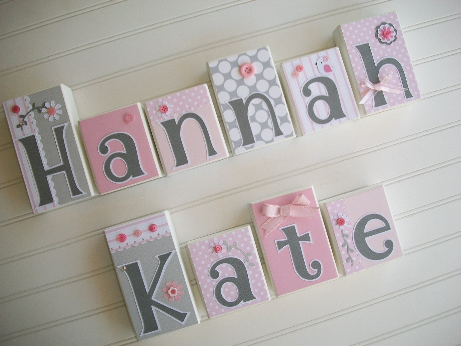 Baby name blocks nursery name blocks nursery decor for Baby name decoration