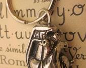 Anatomical heart grenade key chain
