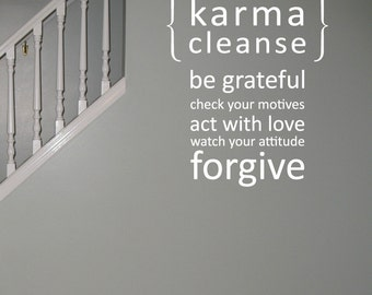 Karma Cleanse 01 Vinyl Wall Quote Decal - WD0131