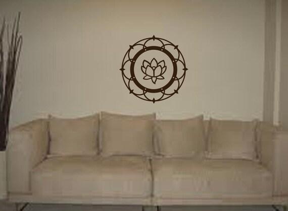 Wall Art Lotus Flower : Items similar to on sale beautiful lotus flower vinyl