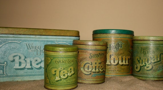 vintage metal kitchen canisters vintage metal kitchen canisters set of 5 22596