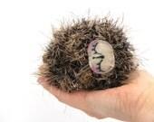 hedgehog amigurmi plush sleeping sleepy baby hedgie stuffed woodland animal gift boxed ready to ship beige black brown crochet
